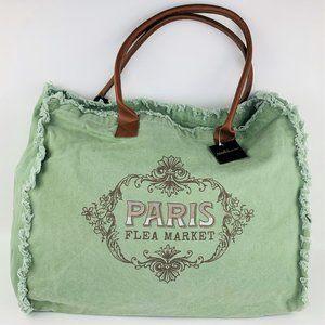 Handbags - Large Canvas Tote Bag Travel Weekend Vintage Look